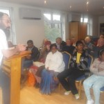Rabbi Dubov addresses SLIFG at Chabad Wimbledon